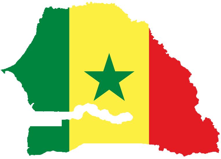 drapeau-carte Senegal